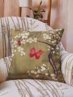 Angel Strawbridge Chateau Blossom Digi Basil Complete Filled Cushion 43cm x 43cm